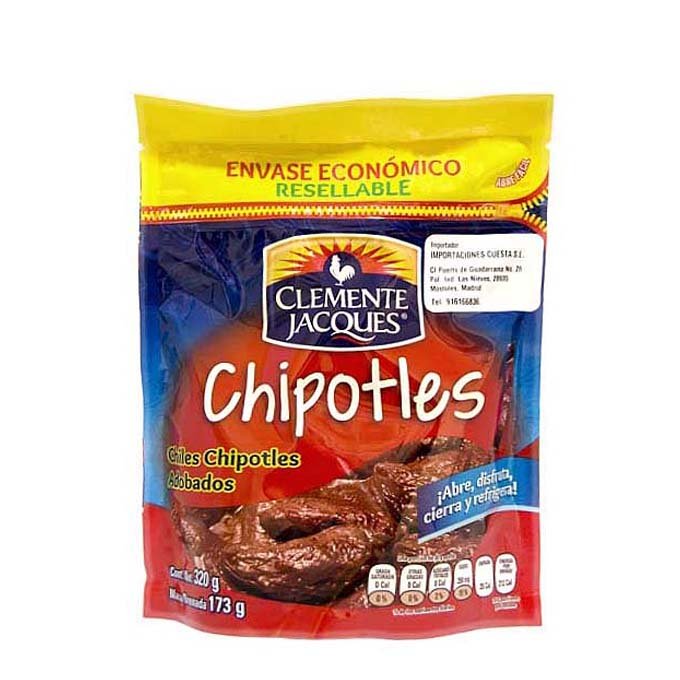 Chipotles Adobados 320gr Pouch 320 g Clemente Jacques