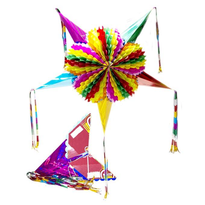 Piñata Estrella Armable X Sin Marca Decoración